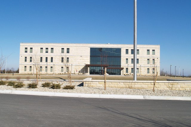 The new 1st Infantry Division headquarters at Fort Riley opened in November, just 11 months after ground was broken. The state-of-the-art facility cost $50 million.
