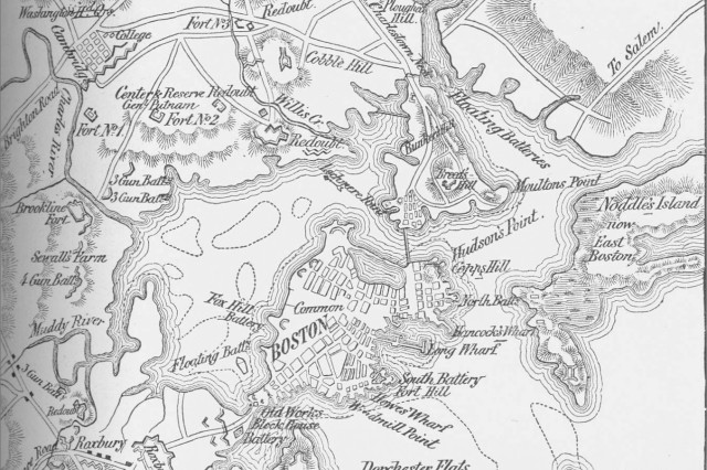 Map of Boston , c.a. 1776