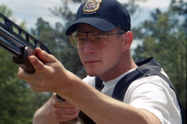 Two-time Olympian Pfc. Walton Glenn Eller III of the U.S. Army Marksmanship Unit of Fort Benning, Ga., qualified for the 2008 U.S. Olympic Team in Double Trap March 15.