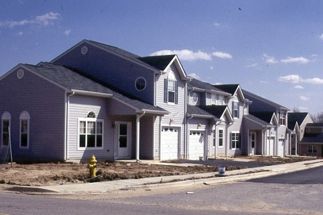 New family housing at Fort Meade is being built as part of the Residential Communities Initiative.