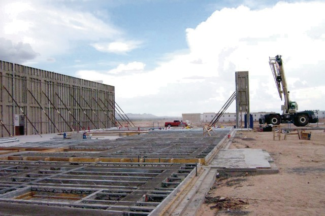 Construction at Fort Bliss will help the post accomodate more than 29,000 Soldiers scheduled to be living there by 2012.