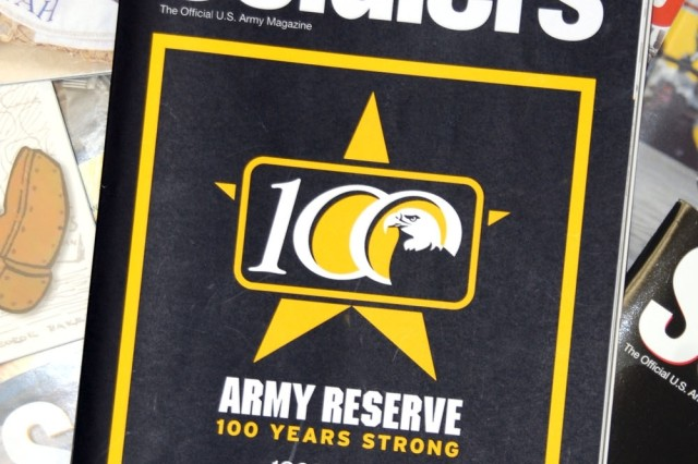 The April edition of Soldiers magazine focuses on the Army Reserve.  The Army Reserve celebrates its 100th anniversary this year.
