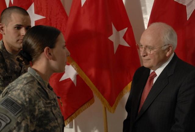 VP Cheney Awards Silver Star