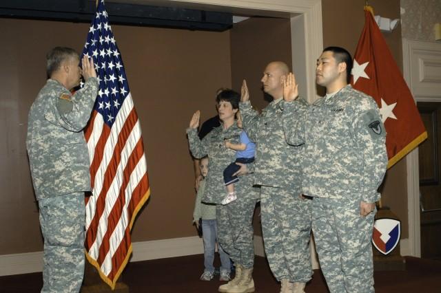 Soldiers re-enlist