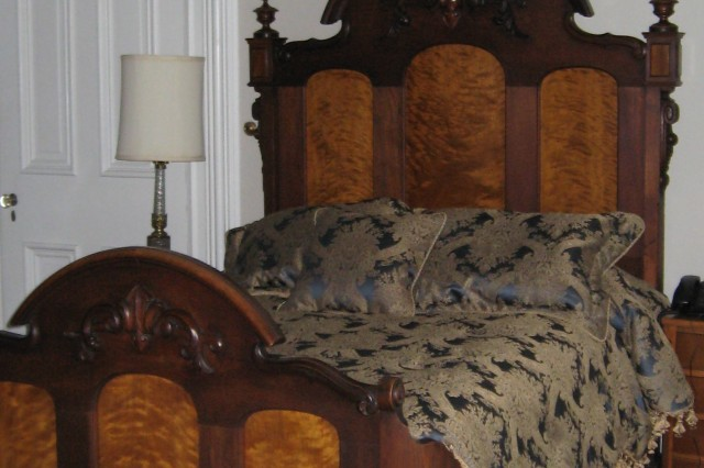 """Where Lindbergh slept, marked with a plaque."""""""
