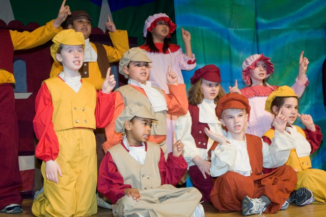 Yongsan youth perform as the Seasiders during the Missoula Children's Theatre Little Mermaid production March 16.