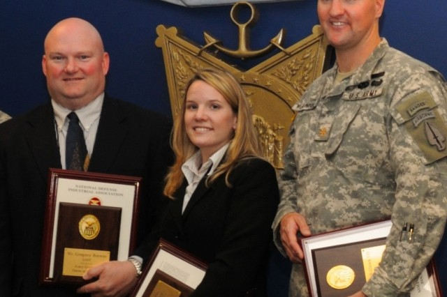 Gregory Bower, Lori Keaty and Maj. Robert McClintock are the NDIA 2007 Testers of the Year