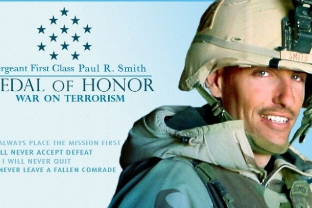 April 4, 2008, marks the fifth anniversary of Medal of Honor recipient Sgt. 1st Class Paul R. Smith's heroic actions in Iraq.