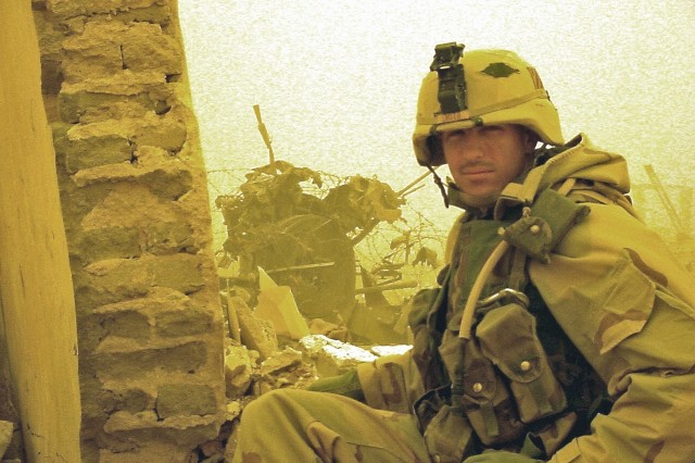 Sgt. 1st Class Paul Ray Smith, posthumous Medal of Honor recipient with B Company, 11th Engineer Battalion, 3rd Infantry Division, shown here days before the battle in which he gave his life.