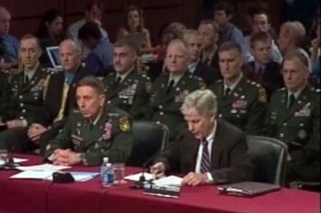 Gen. David Petraeus and Ryan Crocker