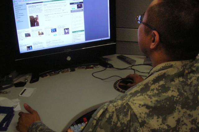 A Soldier enters cyberspace.