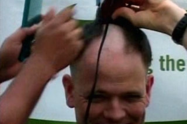 Shaving Heads to Raise Money