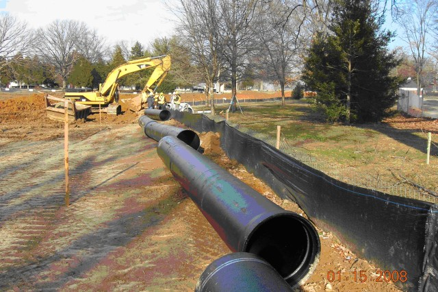 New infrastructure is being emplaced at Fort Belvoir to prepare for an influx of 19,300 new personnel by 2012.