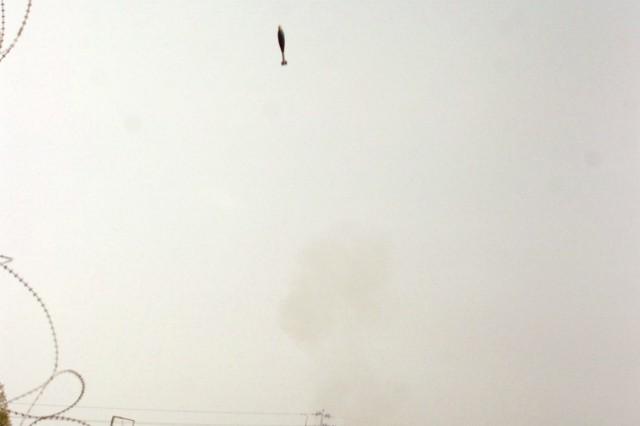 Mortar platoon fires rounds