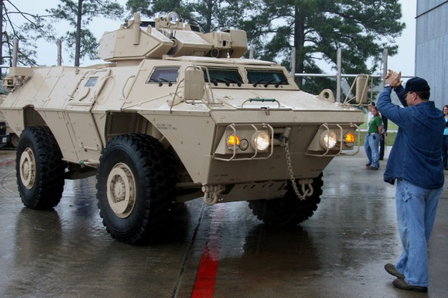 The M1117 ASV will be remanufactured at Red River Army Depot. Textron, the ASV's parent company, and RRAD began a partnership after Hurricane Katrina hit Louisiana in 2005.