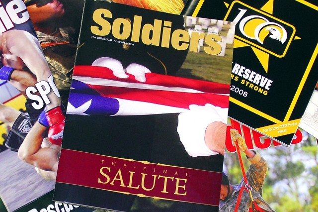 "As a prelude to Memorial Day, the May issue of Soldiers Magazine, themed ""The Final Salute,"" focuses on the many pieces involved in the casualty-assistance process.  The latest edition of Soldiers Magazine will be available the first week of"
