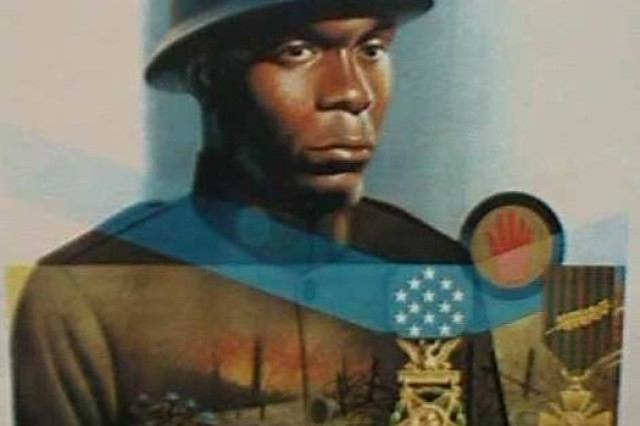 This image of Cpl. Freddie Stowers was generated by Army forensics from photos of his mother and sisters.