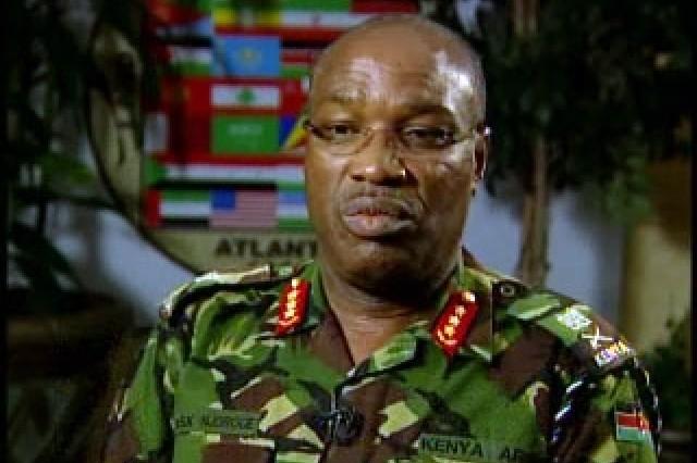 Lt. Gen. Augustino Njorge, Commander, Kenyan Army