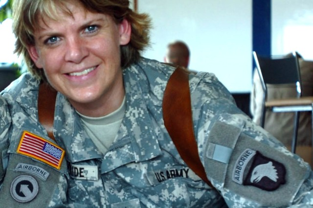 """Former Sgt. 1st Class Sharon G. McBride wrote """"My Mommy Wears Combat Boots,"""" just published in February."""