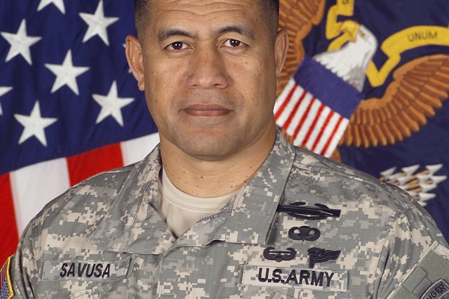 Command Sgt. Maj. Iuniasolua T. Savusa, U.S. Army, Europe's CSM, has been selected to serve as the International Security Assistance Force, Kabul, Afghanistan CSM.