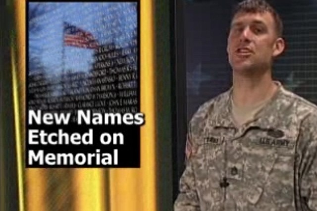 New Names Etched on Memorial