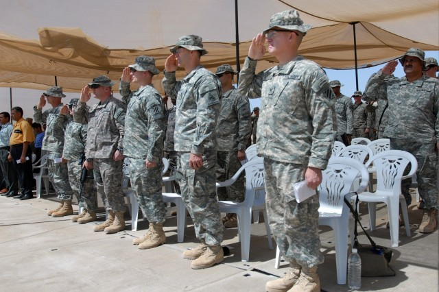 Three 1st Armored Division units accept Iraq missions in ceremonies this week