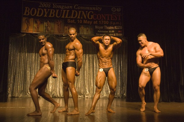 Bodybuilders pump up crowd at annual contest