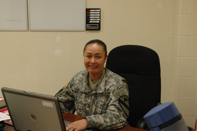 Puyallup, Wash. native Capt. Olivia Nunn, troop commander, Headquarters and Headquarters Troop, 1st Brigade Combat Team, 1st Cavalry Division, takes on the challenges of being a troop commander and is the first woman to serve as HHT's commander.