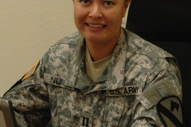 Capt. Olivia Nunn, troop commander, Headquarters and Headquarters Troop, 1st Brigade Combat Team, 1st Cavalry Division, takes on the challenges of being a troop commander and is the first woman to serve as HHT's commander