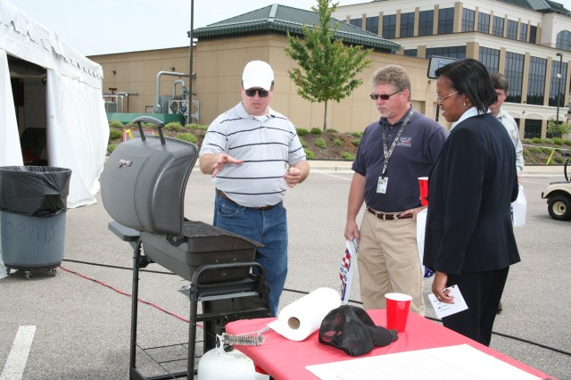 Phil Patterson of SMDC/ARSTRAT's Future Warfare Center explains how proper ventilation is an essential component of grill safety.