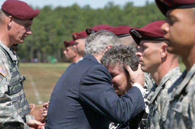 President George W. Bush, praising the troops at the Division Review Ceremony at Fort Bragg