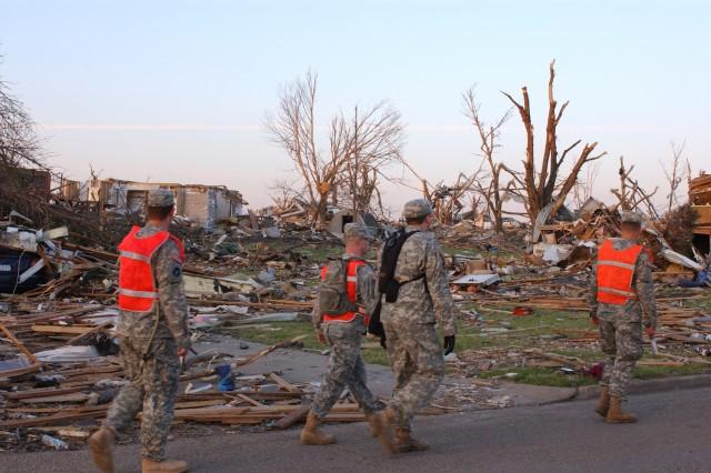 Guardsmen Patrol Parkersbug After Tornado