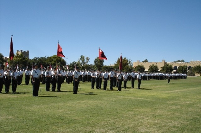 The Corps of Cadets formed for the Final Parade as part of the Commissioning Ceremony conducted May 9 at the New Mexico Military Institute.