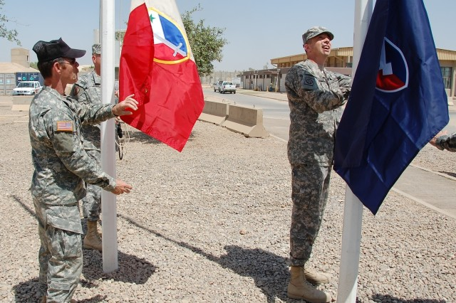 AMC, 402nd AFSB colors fly over LSA Anaconda