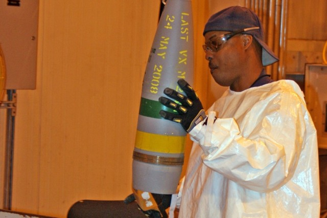 Last VX projectile safely processed at ANCDF