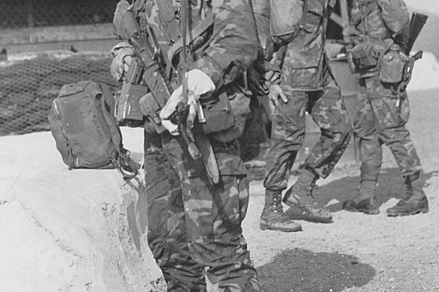 Master Sgt. David Blow as a 19-year old Ranger, in Bongson Viet Nam, LZ English, with N Company, 75th Rangers, 173rd Airborne Brigade, 1970.