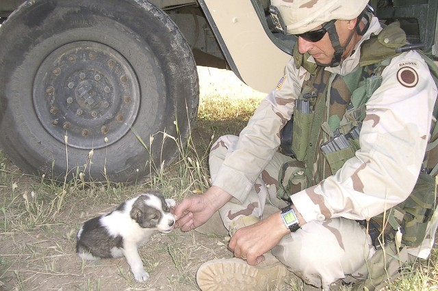 Master Sgt. David Blow in Iraq, 2004-05 as an Embedded Tactical Trainer with the Peshmerga Iraqi Army.