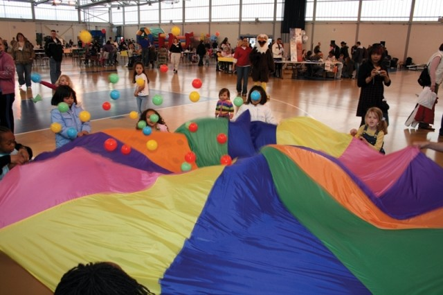 Morale Welfare and Recreation teamed with Army Community Service and volunteers from across the Chièvres Garrison footprint to celebrate the Month of the Military Child with Kids Day at the Community Activity Center on Chièvres Air Base. Army Family Covenant helped to fund the events.
