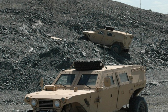 Off-Road Prototype Vehicles Tested in Afghanistan
