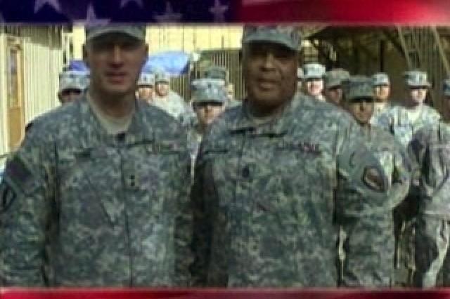 Maj. Gen. Robert Cone and Command Sergeant Major Arthur L. Coleman Jr.