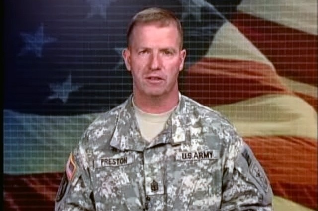 Sgt. Maj. of the Army Kenneth Preston