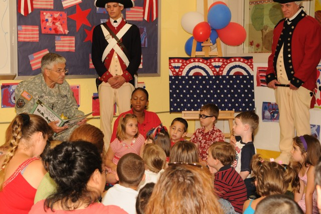 CSA Reads to Kids at Fort Belvoir