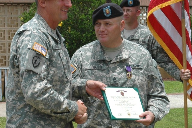 1-14th 2nd SBCT Soldier Awarded Purple Heart