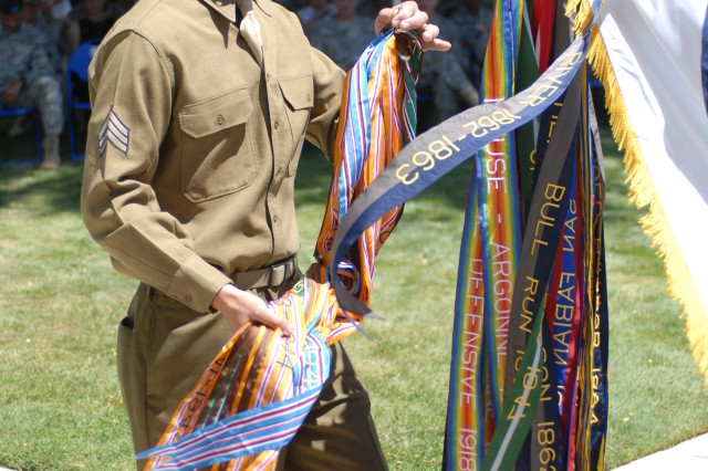 The National Training Center and Fort Irwin celebrated the U.S. Army's 233rd birthday June 12 with a post-wide fun run and a cake cutting ceremony. The ceremony featured Soldiers in historical uniforms who attached battle streamers to the U.S. Army