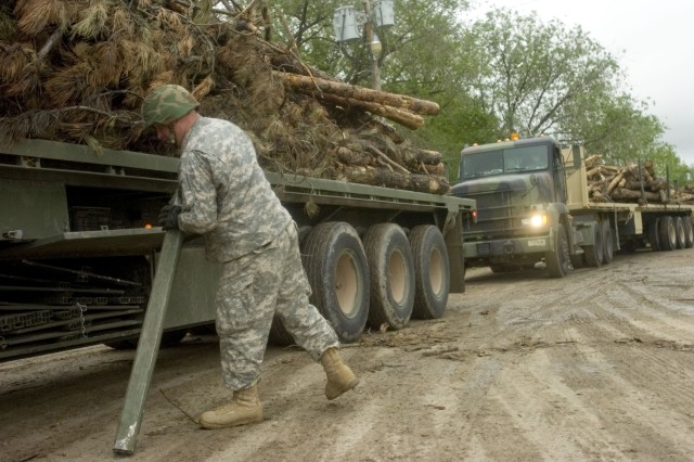 Exercise Delivers Timber to Tribes