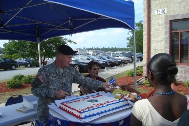 Fort Stewart Army Birthday Bash Cake Cutting
