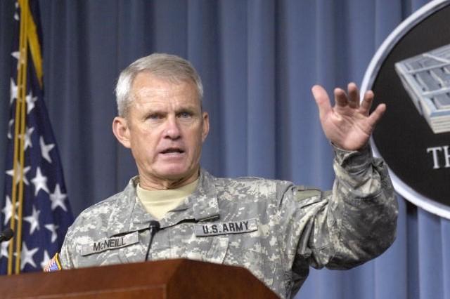 Gen. Dan K. McNeill, recent commander of NATO troops in Afghanistan