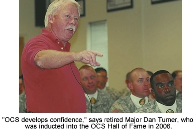"""""""OCS develops confidence,"""" says Dan Turner, inductee into the Officer Candidate School Hall of Fame in 2006."""