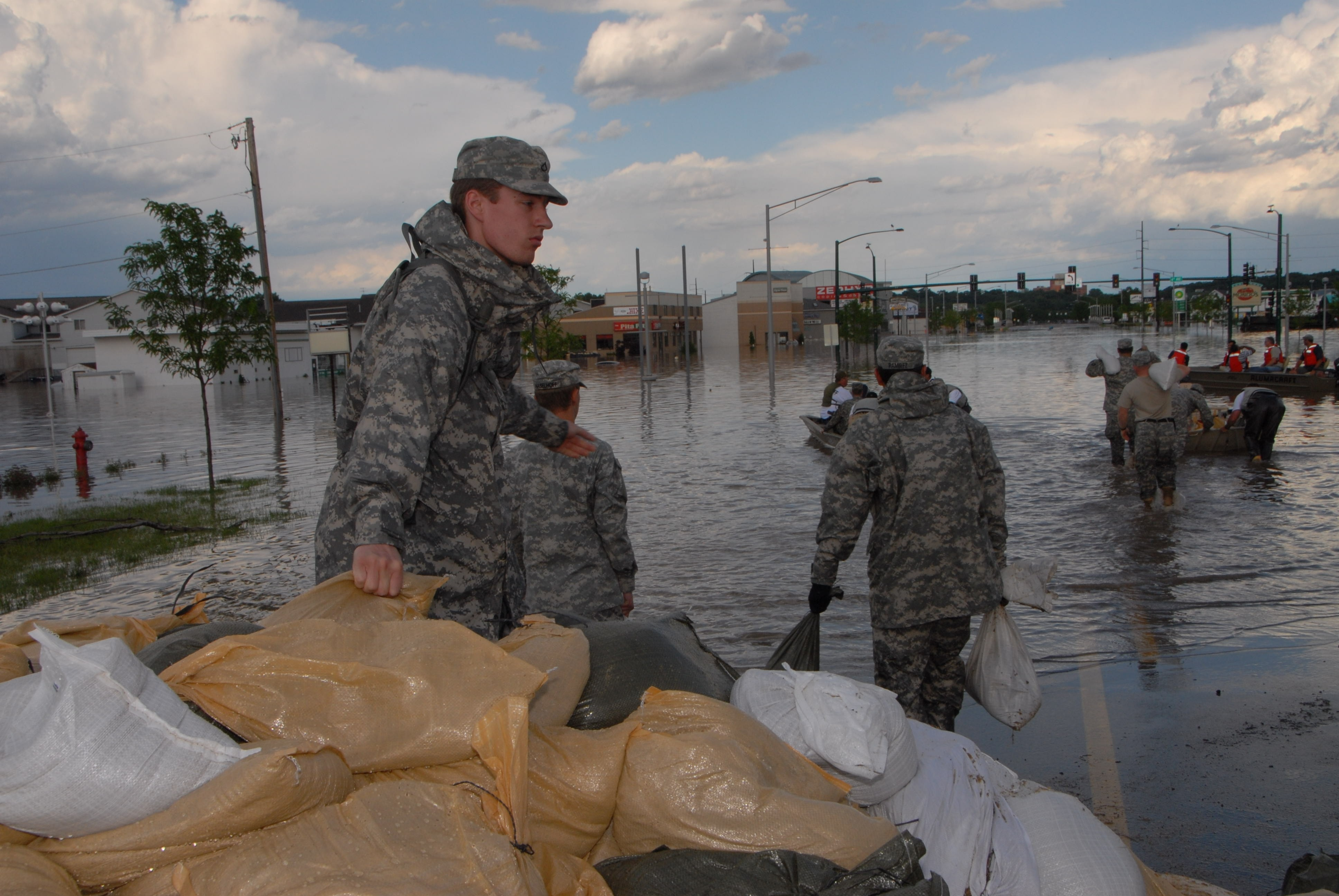 National Guard Continues Fighting Rising Mississippi