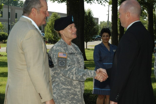 Lt. Gen. Dunwoody's welcome ceremony
